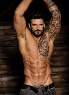 My second choice for a perfect Trey Allairis is another rugby player, Stuart Reardon. but without the beard. Sexy Tattoos, Tattoos For Guys, Sleeve Tattoos, Tattooed Guys, Stuart Reardon, Corps Parfait, Herren Style, Hommes Sexy, Raining Men
