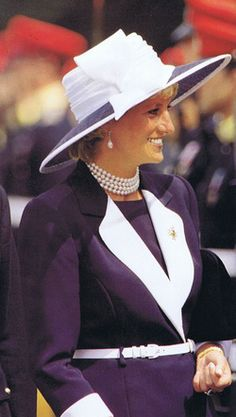 Princess Diana was presented with a sapphire brooch when she was appointed Colonel in Chief of the 13th/18th Hussars in 1989. Description from princess-diana-remembered.com. I searched for this on bing.com/images