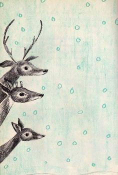 Deer in the Snow, c.1950s, M.Schlein and L.Kessler