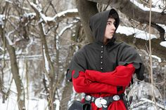 Medieval men's costume coat tappert cotta coat and hood for sale :: by medieval store ArmStreet