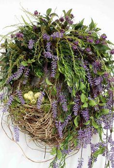 wreaths for front door | Country Wreath Front Door Wreath Everyday by FloralsFromHome, ... | B ...