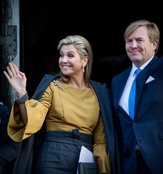 Royal Family Around the World: King Willem-Alexander Of The Nederlands and Queen Maxima Of The Nederlands Give A New Year Reception At The Royal Palace on January 17, 2017 in Amsterdam, Netherlands.