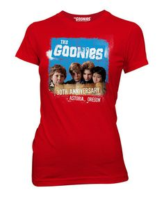This Red 'The Goonies 30th Anniversary' Tee - Women is perfect! #zulilyfinds