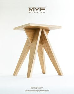 The Stool is made of high-quality birch plywood, coated with veneer. The stool has most prominent features are elegance and durability. It' easy to assemble&disassemble and transport. Hand made item…More Woodworking Furniture, Plywood Furniture, Cool Furniture, Woodworking Projects, Furniture Design, Plywood Table, Plywood Floors, Futuristic Furniture, Furniture Dolly