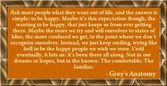grey's anatomy quote on being happy.