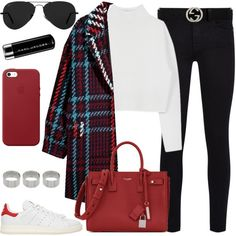 #290 by anadaily on Polyvore featuring polyvore, fashion, style, Dion Lee, 7 For All Mankind, adidas Originals, Yves Saint Laurent, ASOS, Apple and Ray-Ban