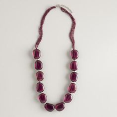 One of my favorite discoveries at WorldMarket.com: Purple Glass Bead Necklace