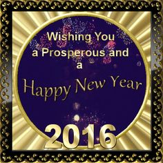 Wishing You a Prosperous and a Happy New Year 2016. Happy Pinning!
