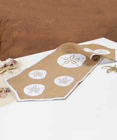 Love this Sand Dollar Burlap Runner by Ohio Wholesale, Inc. on #zulily! #zulilyfinds
