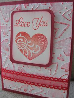 Love You Valentine's Card por PapercutExpressions en Etsy Valentine Love Cards, Valentine Crafts, Valentines, Scrapbook Cards, Scrapbooking, Wedding Card Templates, Wedding Cards, Paper Cards, Diy Cards