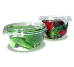 Biodegradable cold food containers made form Ingeo PLA. Suitable for fruit salad, houmous and more!