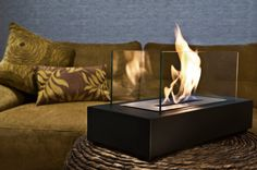 Designer Fire 'Vienna' bio ethanol fireplace - available in an outdoor version