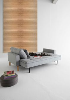 Dual Sofa With Arms, Soft Pacific Pearl contemporary-sleeper-sofas
