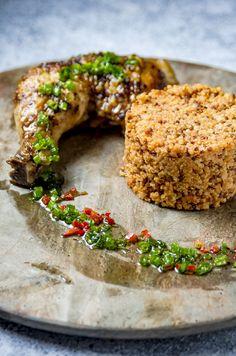 Jollof quinoa & roast chicken