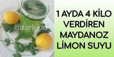 Diyetisyenlerin de önerdiği ayda 4 kilo verdiren maydanoz limon suyu tarifi ile siz de fazla kilolar Diet And Nutrition, Cantaloupe, Weight Loss, Fruit, Food, Bathroom, Essen, Washroom, Losing Weight