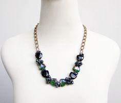 ... CRYSTAL GLASS FASHION STATEMENT NECKLACE by Eji Jewelry | Eji…