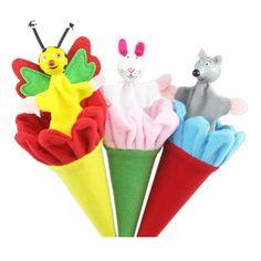 Kids Practical Jokes Toy Cartoon Animal Toy Clown Pop Up Puppet Telescopic Stick Rods Doll Wooden Classic Toys 3 pcs/lot 11-184