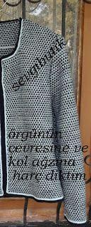SEVGİ BUTİK: Chanel Modeli Hırka Baby Knitting Patterns, Knitting Stitches, Boutique, Chanel Model, Pullover, Models, Latest Fashion Trends, Knit Crochet, Diy