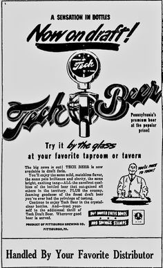 Greensburg Daily Tribune, May 27, 1942    tech Beer from Pittsburgh Brewing Co., Iron City Brewing Co.