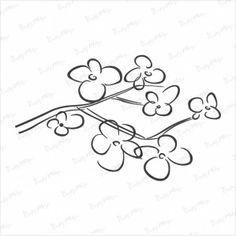 Stempel - Wiśniowa gałązka - CraftyMoly