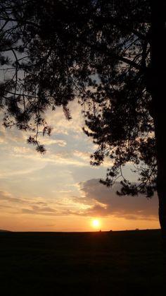 Wunderschöner Sonnenuntergang am Abend des 25. April...