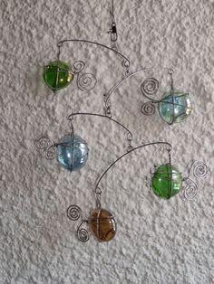 colored glass mobile