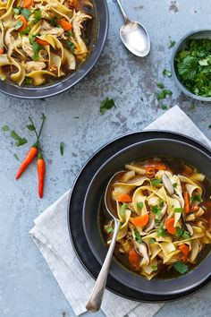 """Mmmmm! // """"Spicy Asian Chicken Noodle Soup"""" 
