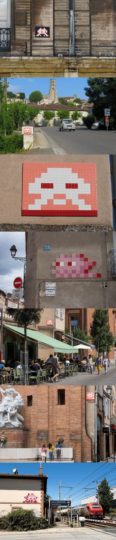 Invader in the Streets of Toulouse France