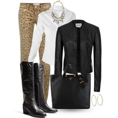 Reiss Jacket, Prada Purse and Leopard Jeans :)