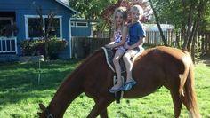 The Kuenstler Kids could use a saddle to share! #horses #horseback #equestrian #barnlife