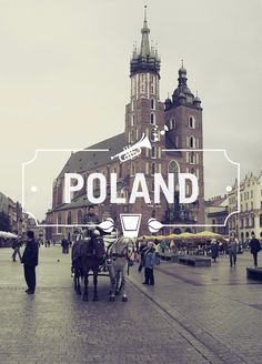 Poland - Cities & Typography by Gokhun Guneyhan, via Behance Oh The Places You'll Go, Places To Travel, Places Ive Been, Places To Visit, Europe Places, Travel Sights, Dream Vacations, Vacation Spots, Typographie Fonts