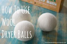 Wool dryer balls are a great way to soften fabric, dry laundry faster, and save a little money. For those who don't know, here's how to use dryer balls with you laundry.