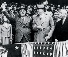 FDR throws out the first pitch of the 1941 baseball season