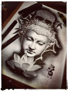 Dark Circle Tattoo Studio Buddha Design ***SOLD***