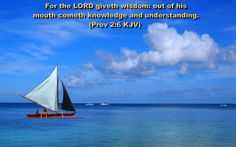 For the lord giveth wisdom out of his mouth  cometh knowledge and understanding