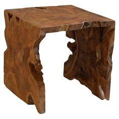 Baum Teakwood Square Side Table - Natural