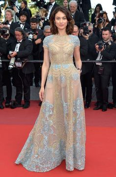 """Olga Kurylenko attends the """"The Meyerowitz Stories"""" screening during the 70th annual Cannes Film Festival at Palais des Festivals on May 21, 2017 in Cannes, France."""