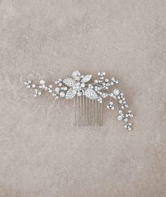 Pettine fermacapelli in argento invecchiato e strass   Pronovias   Pronovias