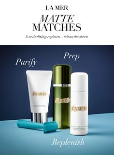 To achieve a balanced, flawless complexion, begin by purifying skin with THE CLEANSING FOAM. Then, prep it with a sweep of energizing TREATMENT LOTION. Lastly, follow with the NEW MOISTURIZING MATTE LOTION to replenish moisture and balance shine.