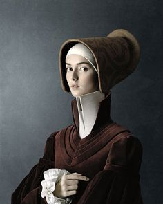 "Renaissance portraits created by Swiss/Italian photographer Christian Tagliavini. These portratis are part of a project called ""1503"". Taking 13 months to complete this project was inspired by the masters of the renaissance. All of the clothes are made by Tagliavini himself. It's well worth following the image to see the complete portraits."