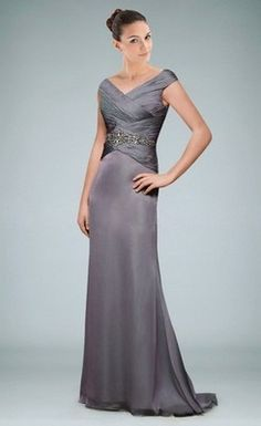 b57eac2695e Charming A-Line Off-the-Shoulder Sweep Train Chiffon Mother of the Bride  Dress With Beading Sequins