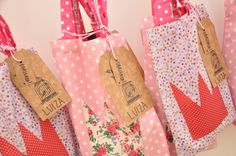 Princess party - tote gift bags
