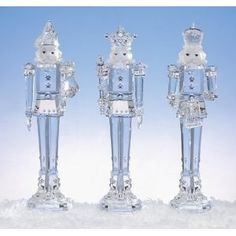 Beautiful nutcrackers - love the blue and silver