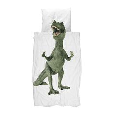 Create a playful environment to encourage little ones to sleep with this Dinosaur duvet set from Snurk. Made from 100% cotton, the charming design gives the illusion of being between the prehistoric c