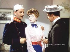 Anton Walbrook, Deborah Kerr and Roger Livesey in The Life and Death of Colonel Blimp (1943)