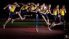 Sequence photo of an Olympic hurdler  Photograph by Ben C.K.