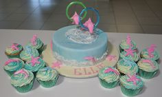 Dolphin birthday cake and cupcakes by Cakes by Susan in Oz, via Flickr