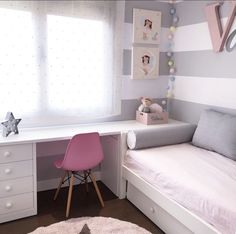 cute and girly bedroom decorating tips for girl 59 Small Room Bedroom, Kids Bedroom, Girl Bedrooms, Bedroom Ideas, Room Kids, Small Rooms, Kids Rooms, Bedroom Decorating Tips, Teenage Room