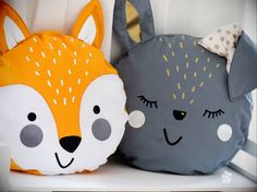 Animal pillow forest animals including application templates and plott files forest animals incl . Baby Pillows, Kids Pillows, Animal Pillows, Homemade Stuffed Animals, Sewing Stuffed Animals, Sewing Toys, Baby Sewing, Fabric Toys, Fabric Crafts