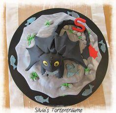 Silvia's Tortenträume: Ohnezahn Ohne Zahn Dragons Geburtstag Kinder Motivtorte Fondant Rezept Anleitung Cake
